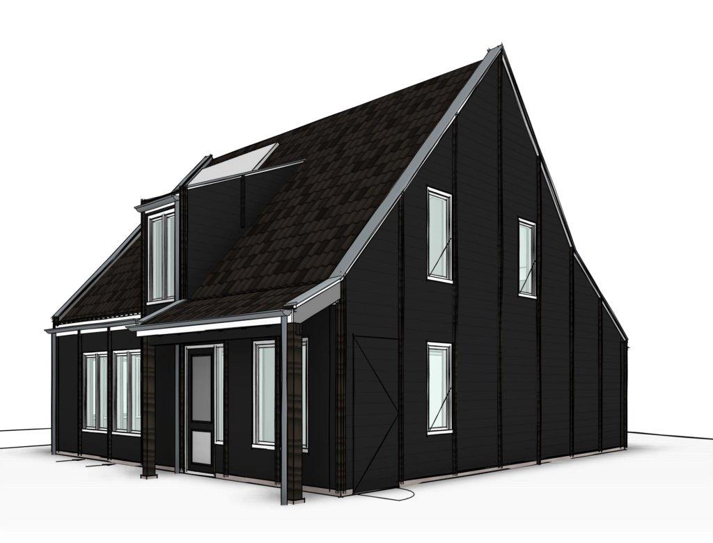 Houten huisje nieuwe niedorp schuurwoning nico dekker for Nieuwe woning bouwen