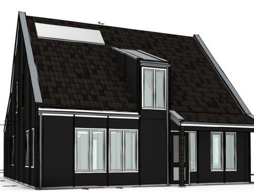 houten huisje nieuwbouw