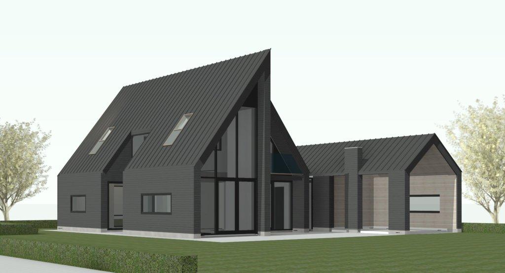 Nieuwbouw moderne schuurwoning haringhuizen schuurwoning nico dekker ontwerp bouwkunde - Model van huisarchitectuur ...