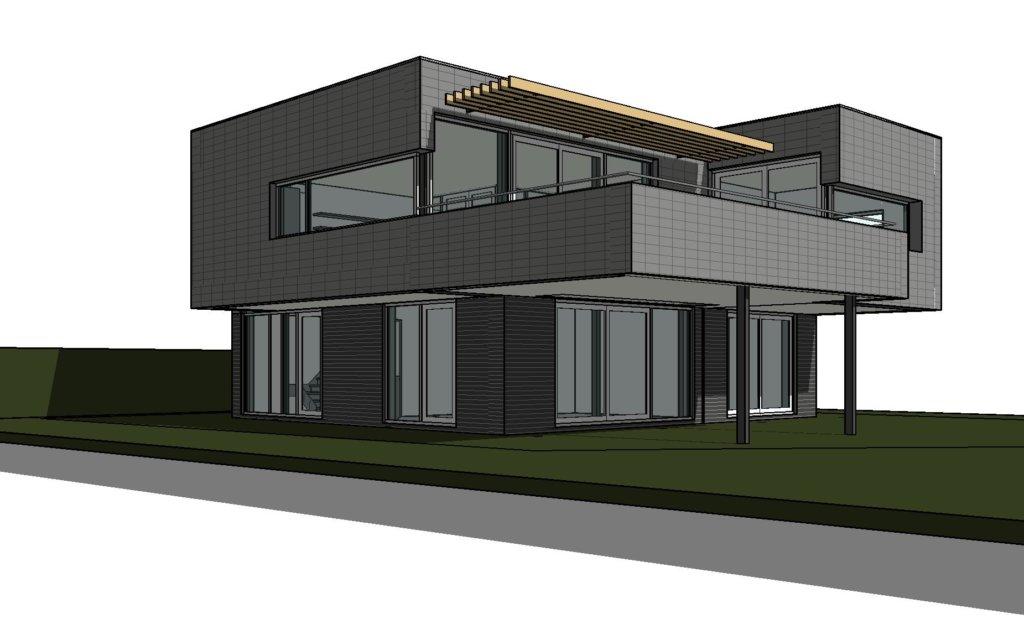Moderne villa in plan vaart alkmaar nico dekker ontwerp bouwkunde - Huis in de moderne ...