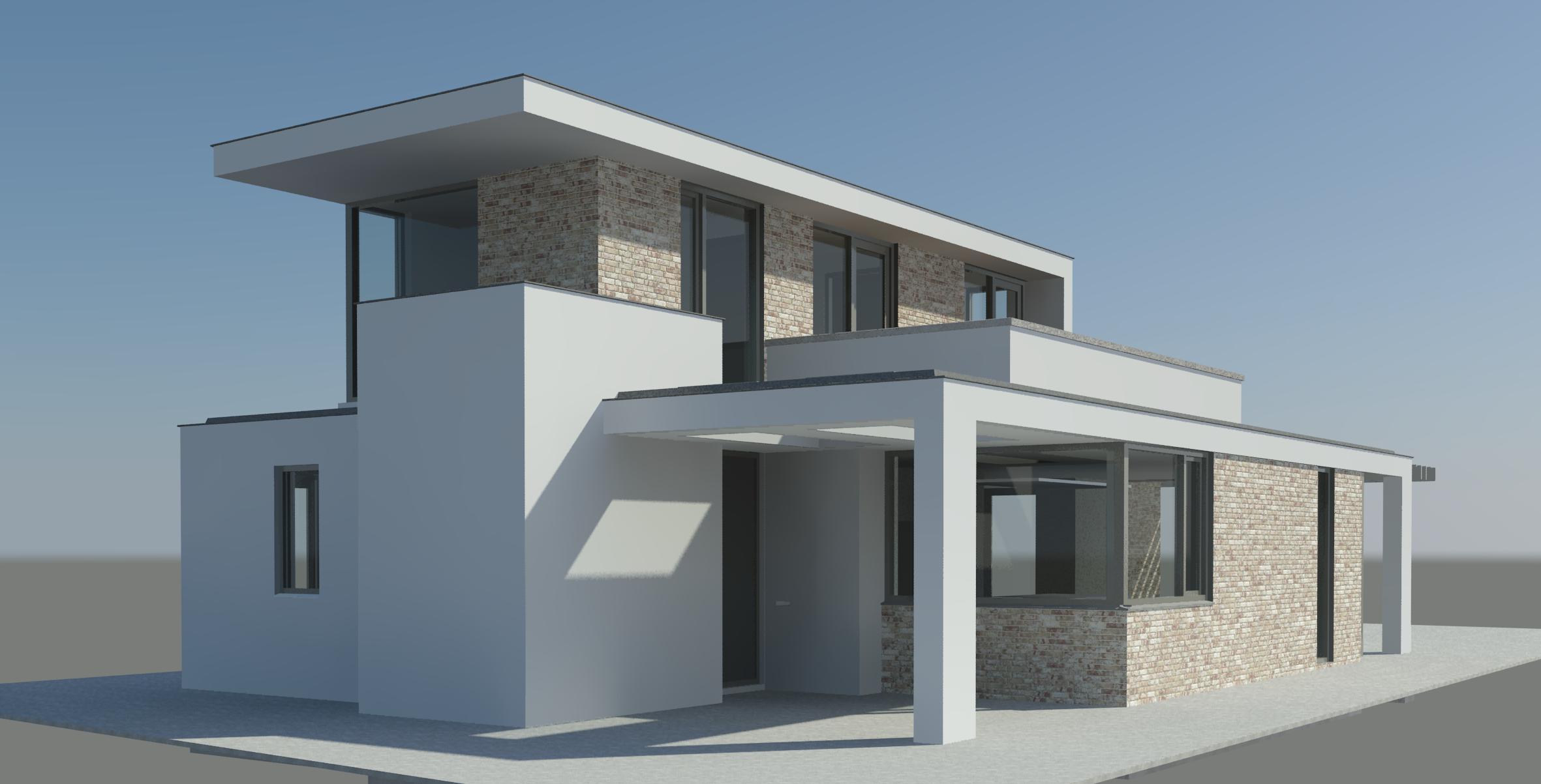Wit gestuukte moderne woning in plan vaart alkmaar nico dekker ontwerp bouwkunde - Moderne uitbreiding huis ...