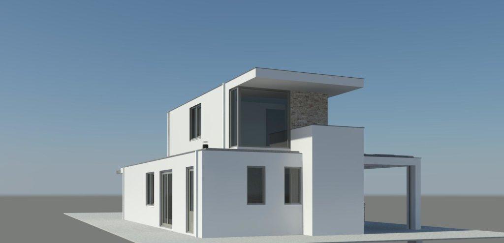 Wit gestuukte moderne woning in plan vaart alkmaar nico dekker ontwerp bouwkunde for Moderne huis foto