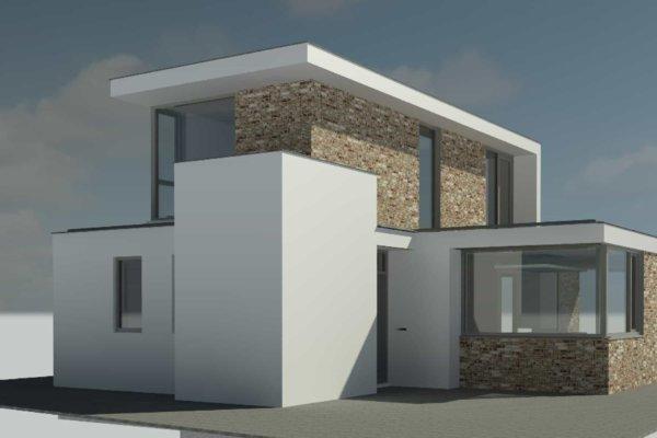 Wit gestuukte moderne woning alkmaar