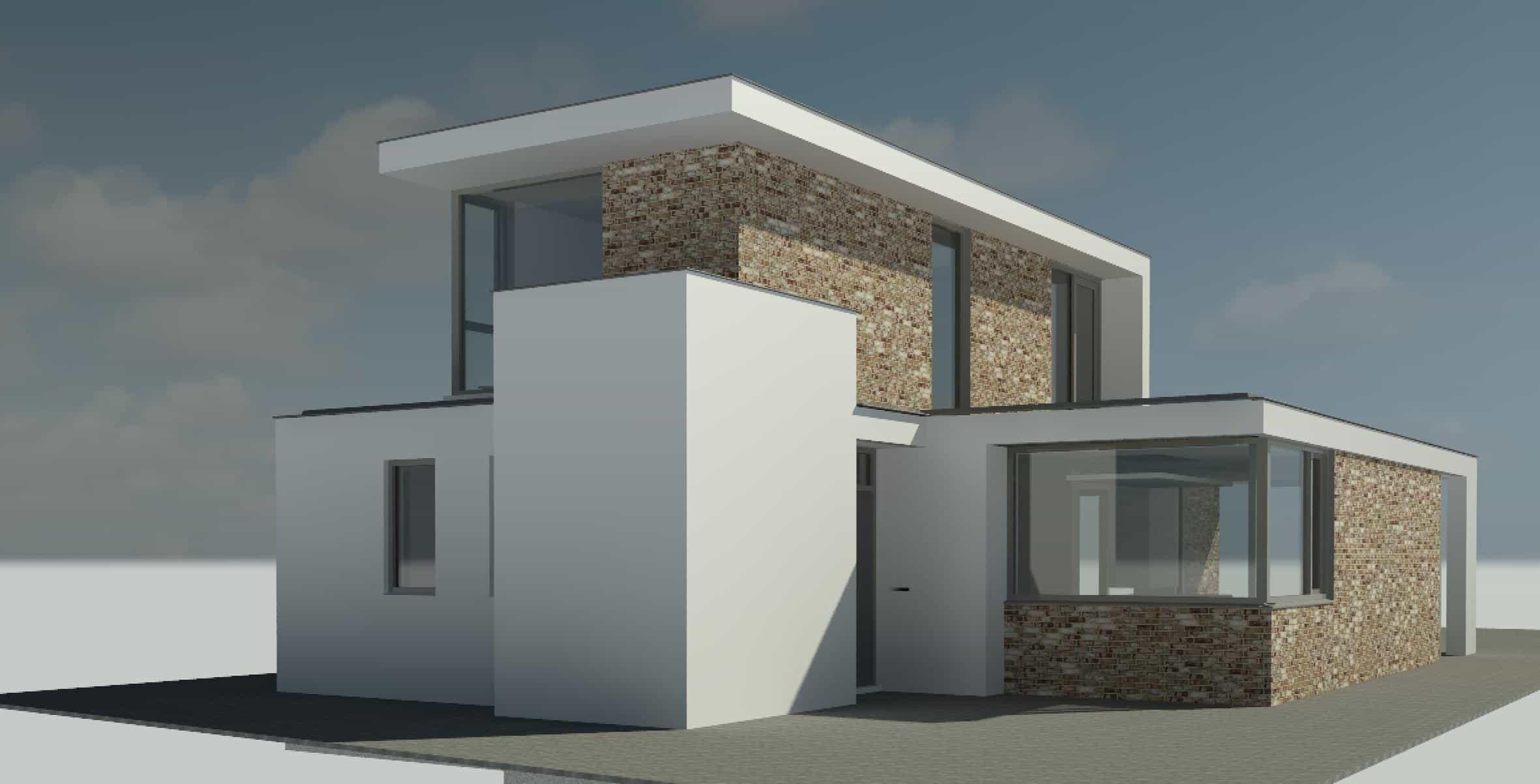 Wit gestuukte moderne woning in plan vaart alkmaar moderne woning nico dekker ontwerp - Foto gevel moderne villa ...