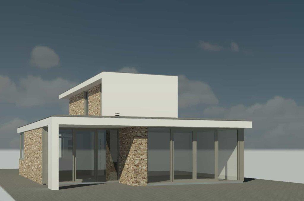 Wit gestuukte moderne woning in plan vaart alkmaar moderne woning nico dekker ontwerp - Plan indoor moderne woning ...