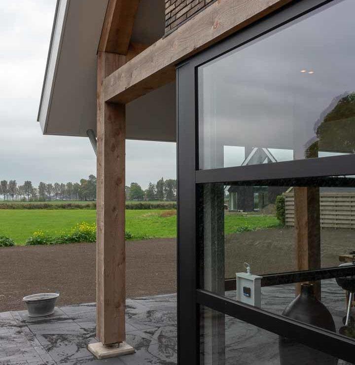 veranda strakke schuurwoning