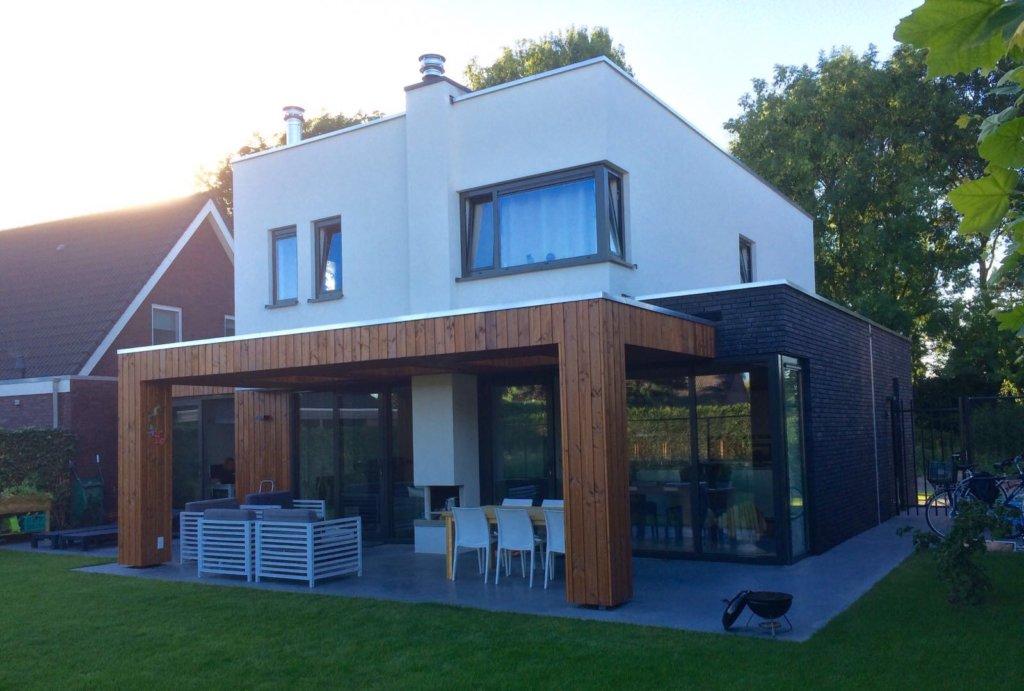 Moderne woning prinsenbeek moderne woning nico dekker ontwerp bouwkunde - Huis modern kubus ...