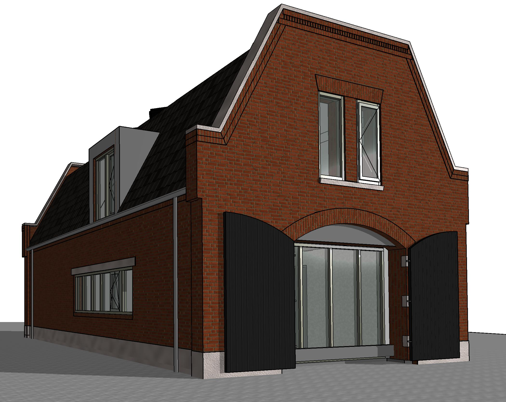 Bakstenen pakhuiswoning lutjewinkel traditionele woning for Nieuwe woning bouwen