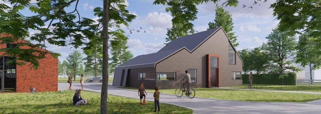 Modern huis bouwen. Voorbeeld van een modern huis