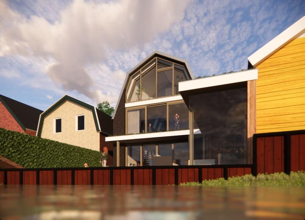 Moderne woning in Broek op Langedijk achterkant
